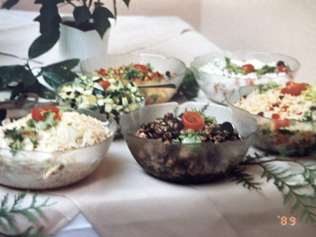 有機野菜を中心とした食事メニュー写真
