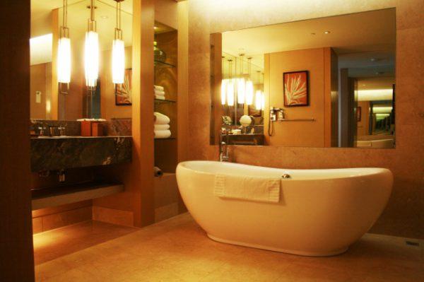 エステサロンの浴室風景