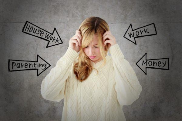 ストレスの多い女性